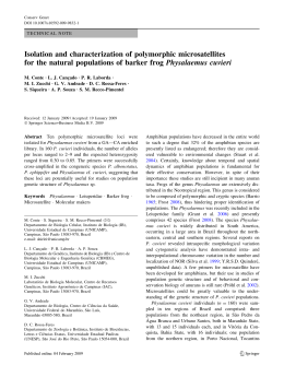Isolation and characterization of polymorphic microsatellites