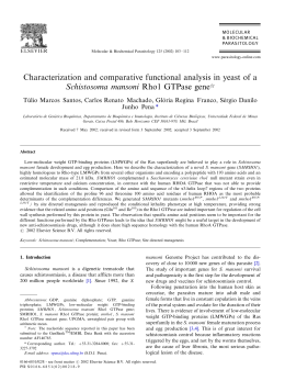 Characterization and comparative functional analysis in yeast of a