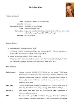CV_Diana Fernandes 2014 - sociedade portuguesa da electroquímica