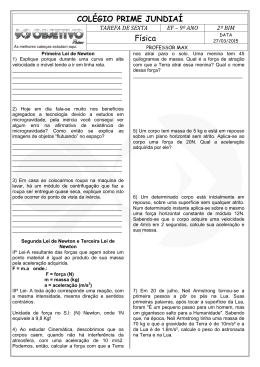 COLÉGIO PRIME JUNDIAÍ Física - Colégio Objetivo – Anápolis