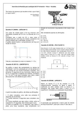 Exercícios de revisão para AC2 segundo trimestre