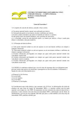 CENTRO UNIVERSITÁRIO LEONARDO DA VINCI