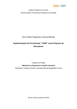 Ana Cristina Felgueiras e Sousa Mendes Implementação de