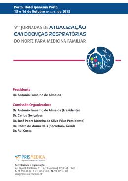 programa científico Jornadas Doenças Resp. do Norte