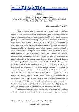 Internet e Participação Política no Brasil