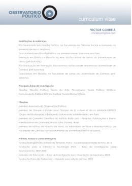 Curriculum Vitae em PDF