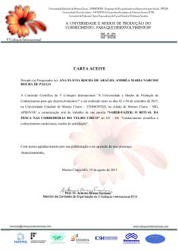 Ana Flávia Rocha de Araújo, Andréa Maria Narciso Rocha de …