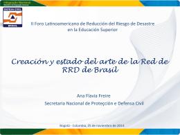 Creación y estado del arte de la Red de RRD de Brasil
