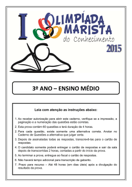 3º ANO – ENSINO MÉDIO - Marista Centro