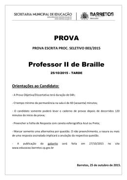 Caderno de Questões da Prova Objetiva - G9.8-J Braille