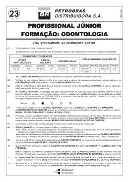 Profissional Júnior - Formação: Odontologia