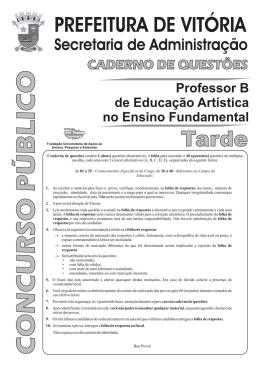 Educaçao Artistica Tarde