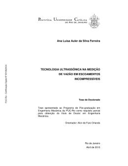 Ana Luísa Auler da Silva Ferreira TECNOLOGIA ULTRASSÔNICA