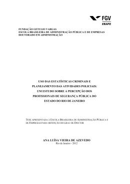 ANA LUÍSA VIEIRA DE AZEVEDO - Sistema de Bibliotecas FGV