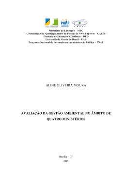 aline oliveira moura avaliação da gestão ambiental no