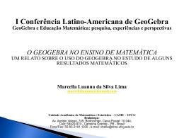 O Geogebra no Ensino de Matemática