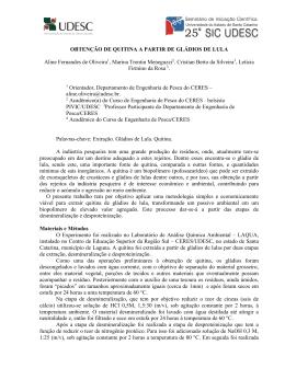 OBTENÇÃO DE QUITINA A PARTIR DE GLÁDIOS DE LULA