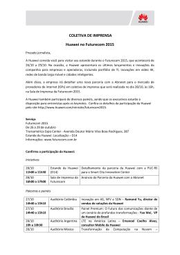 COLETIVA DE IMPRENSA Huawei no Futurecom 2015