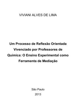 VIVIANI ALVES DE LIMA Um Processo de Reflexão Orientada
