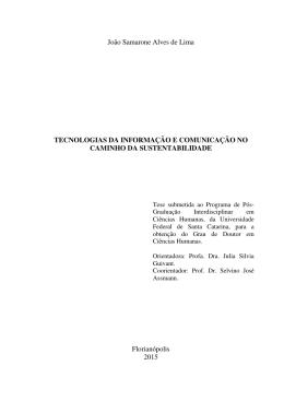 João Samarone Alves de Lima TECNOLOGIAS DA INFORMAÇÃO E