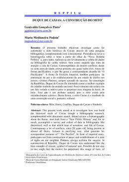 Duque de Caxias: The construction of myth