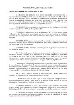 Portaria nº 481, de 9 de julho de 2014
