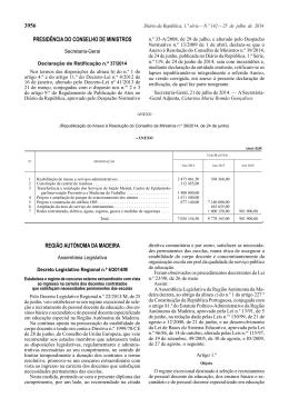Decreto Legislativo Regional n.º 6/2014/M