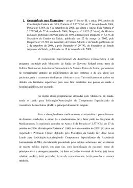Gratuidade nos Remedios - Sociedade Brasileira de Nefrologia