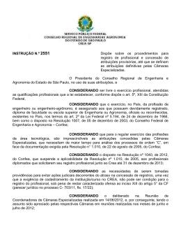 INSTRUÇÃO N - Crea-SP