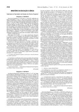 Despacho n.º 2674/2014 - Instituto Politécnico de Lisboa
