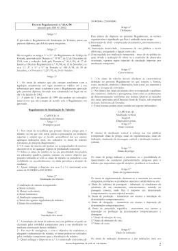 Decreto Regulamentar n.º 22-A/98 (alterado pelo DR 41/2002