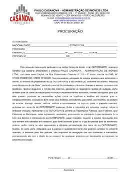 procuração - Imobiliária Paulo Casa Nova