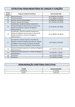 estrutura remuneratória de cargos e funções - Apex