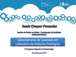 Saada Chequer Fernandez Analista de Gestão em Saúde