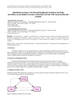 propostas para um framework de interação por manipulação direta