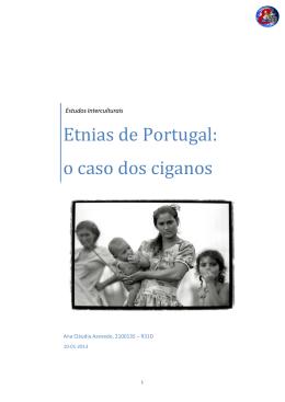 """Ana Cláudia, """"Etnias de Portugal: o caso dos ciganos"""""""