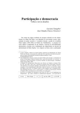 Participação e democracia