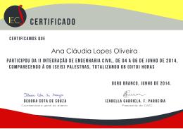 Ana Cláudia Lopes Oliveira