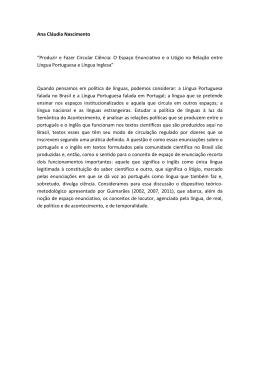 """Ana Cláudia Nascimento """"Produzir e Fazer Circular Ciência: O"""