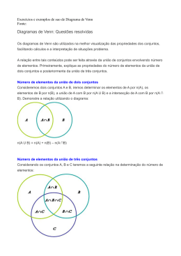 Diagramas de Venn: Questões resolvidas