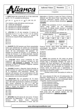 Conjuntos www.aliancaprevestibular.com Anderson Velasco 1