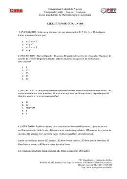 Conjuntos_exer - PET Engenharias