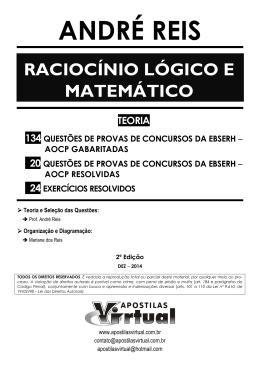Raciocínio Lógico e Matemático