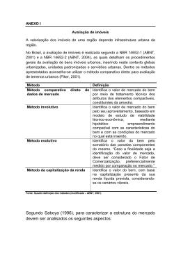 Segundo Saboya (1996), para caracterizar a estrutura do