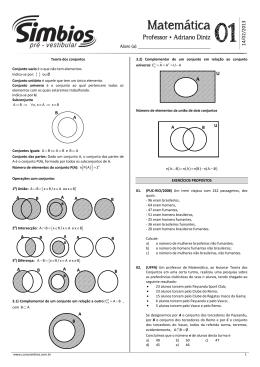 Matemática - Colégio e Curso Simbios