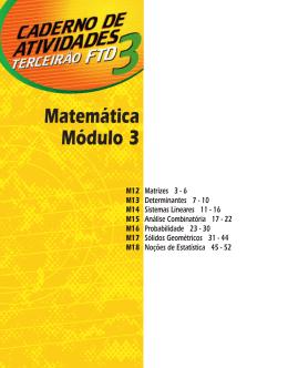 166 questões: Álgebra, Aritmética, Geometria Espacial e Estatística