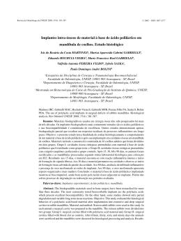 Português - Revista de Odontologia da UNESP