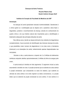 Doenças da Aorta Torácica Ricardo Ribeiro Dias Noedir