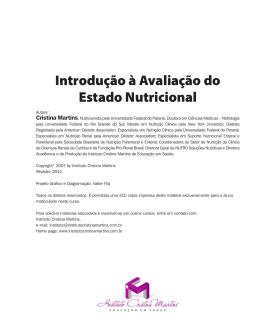 Introdução à Avaliação do Estado Nutricional