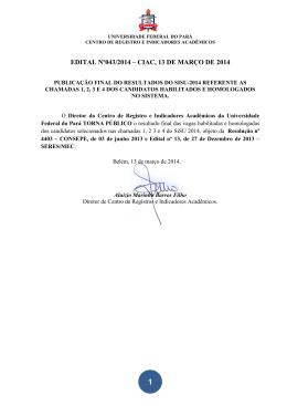 edital nº043/2014 – ciac, 13 de março de 2014
